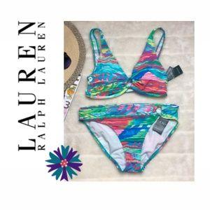 Lauren by Ralph Lauren Ikat Stripe Bikini Set
